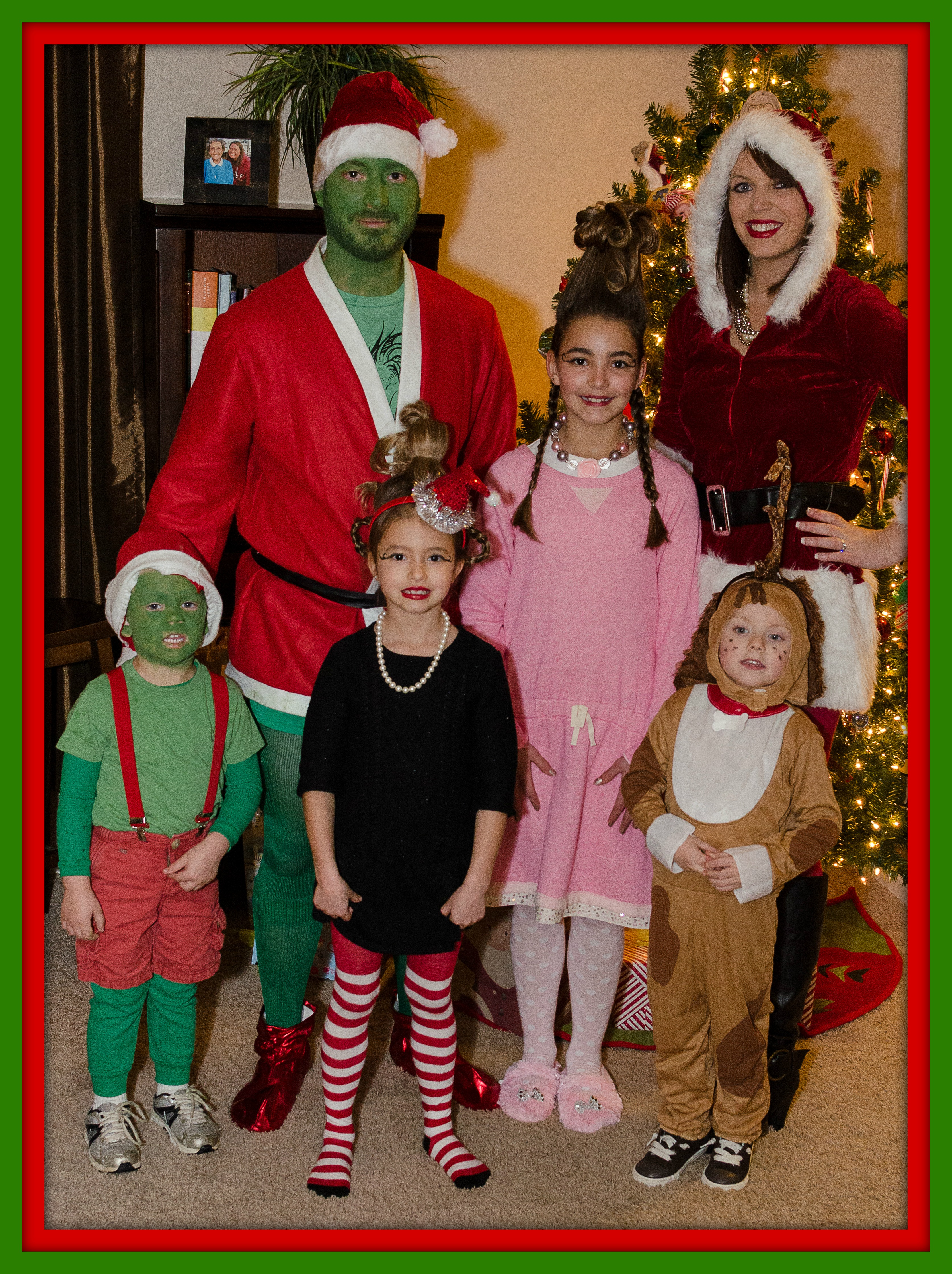 My beautiful aunt paula dressed up as an elf uncle frank was a