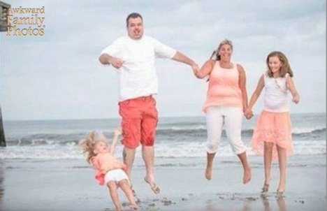 Beach jumping scene