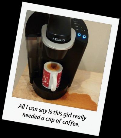 coffee cup upside down