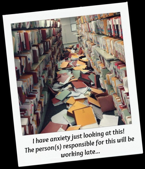 files on floor