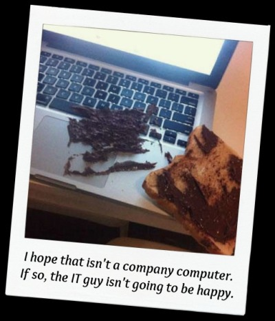 Toast fell on keyboard