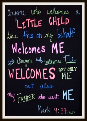 anyone who welcomes a child