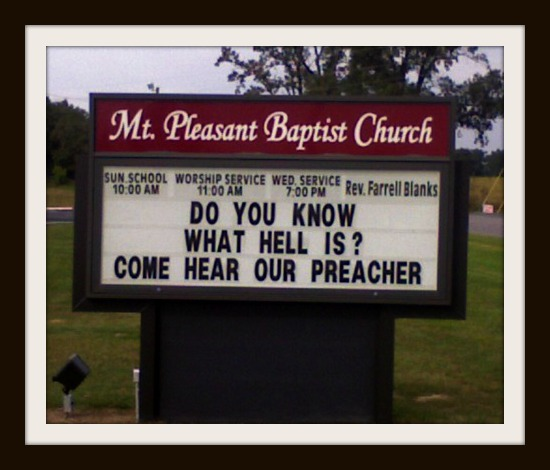 Come hear our preacher