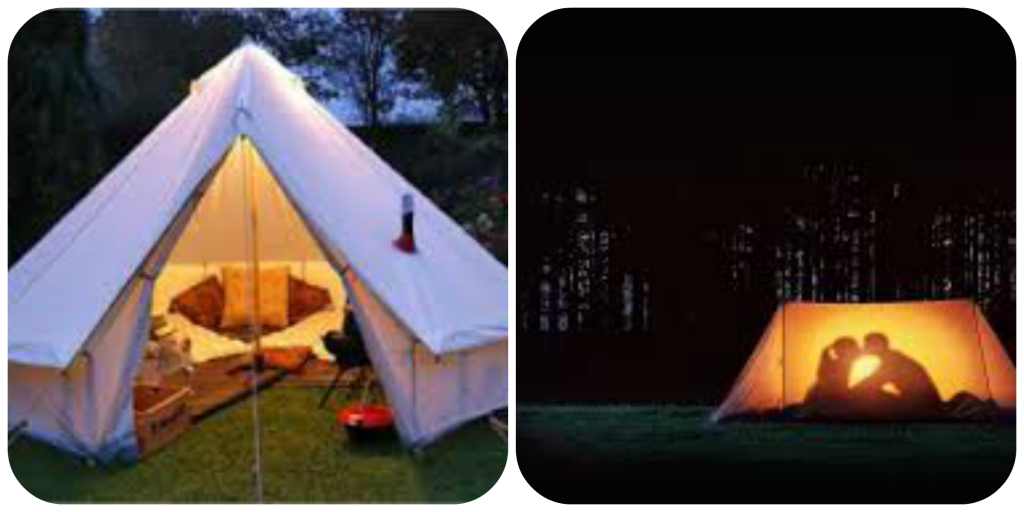 dream camping collage