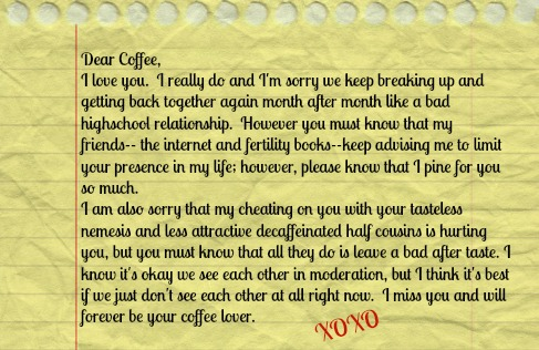 Good Bye Letter to Coffee