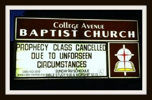 Phrophecy Class Canceled