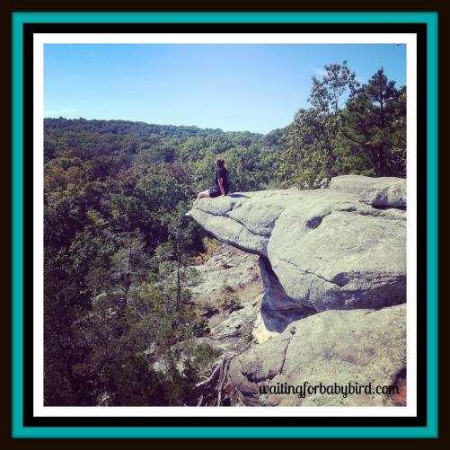 sitting on cliff