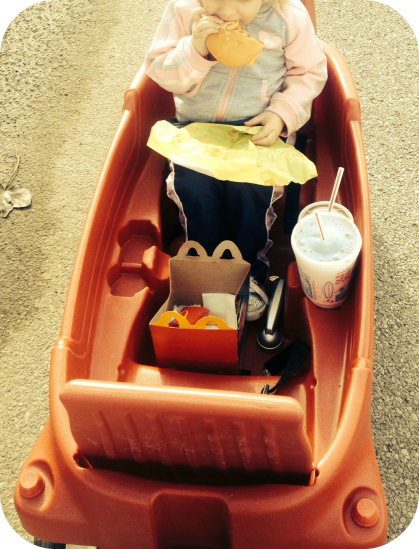 eating McDonalds
