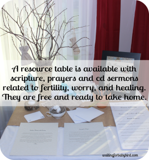 Resource Table with Sermons