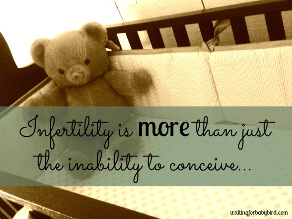Infertility is more than just the inability to conceive (bear)