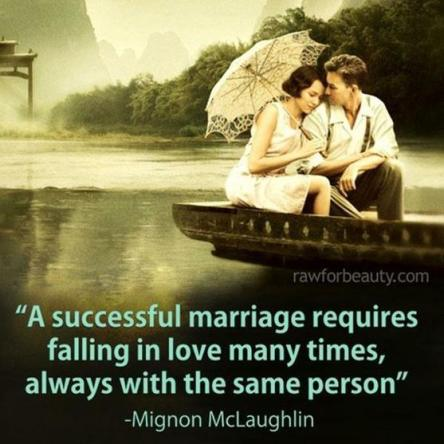 A successful marriage