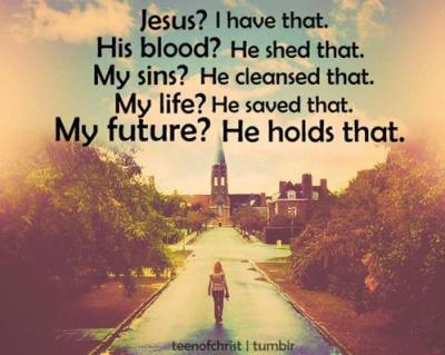 Jesus holds my future