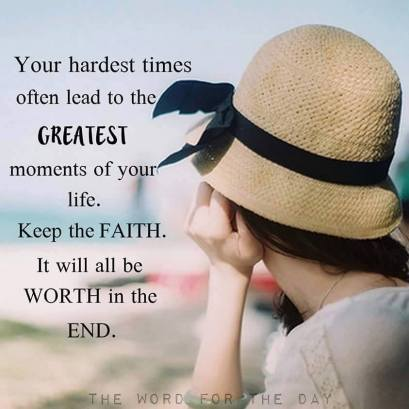 The hardest times often lead to the greatest