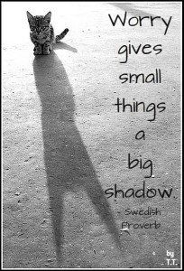 Worry gives small things a big shadow