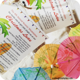 Christmas Luau Invitations