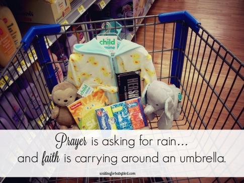 Prayer is asking for rain