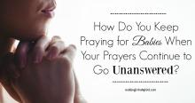 How do you keep praying 2